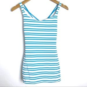 Lululemon Free To Be Blue Stripe Strappy Tank Top